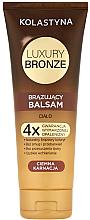 Парфюмерия и Козметика Балсам автобронзант за тъмна кожа - Kolastyna Luxury Bronze Tanning Balm