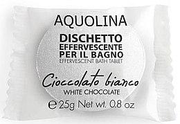 """Парфюми, Парфюмерия, козметика Бомбичка за вана """"Бял шоколад"""" - Aquolina Bath Tablet White Chocolate"""