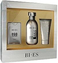 Парфюмерия и Козметика Bi-Es Ego Platinum - Комплект (edt/100ml + edp/15ml + sh/gel/50ml)