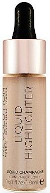 Течен хайлайтър за лице - MakeUp Revolution Liquid Highlighter