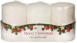 """Парфюми, Парфюмерия, козметика Комплект ароматни свещи - Artman """"Merry Christmas"""" (candle/3 x 22g)"""