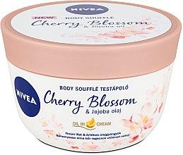 Парфюмерия и Козметика Суфле за тяло с вишна и масло от жожоба - Nivea Body Souffle Cherry Blossom & Jojoba Oil