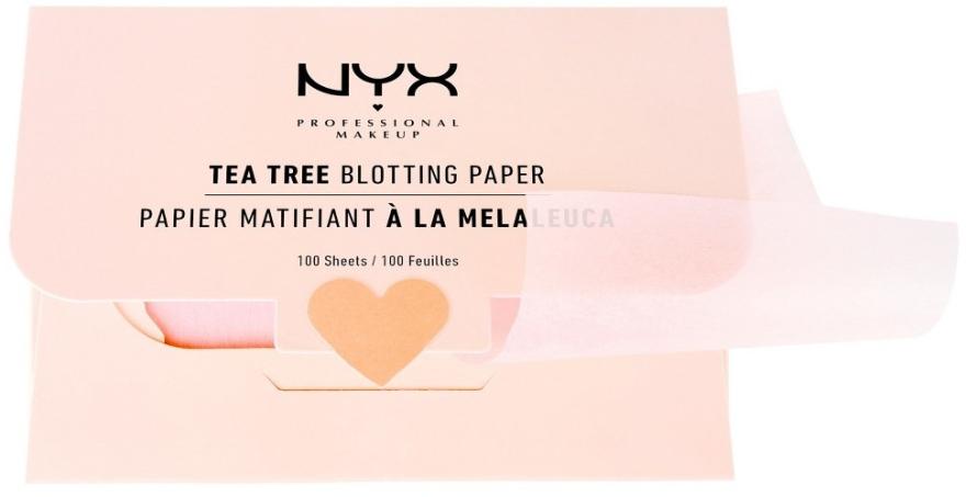 "Матиращи листчета за лице ""Tea Tree"" - NYX Professional Makeup Blotting Paper"