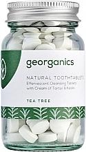 """Парфюмерия и Козметика Таблетки за почистване на устна кухина """"Чаено дърво"""" - Georganics Natural Toothtablets Tea Tree"""