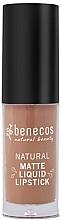 Парфюмерия и Козметика Течно матово червило за устни - Benecos Natural Matte Liquid Lipstick
