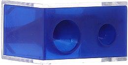 Парфюмерия и Козметика Двойна острилка с капаче в син цвят - Top Choice