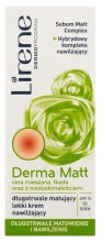 Парфюми, Парфюмерия, козметика Дневен крем за лице - Lirene Dermoprogram Derma Matt Day Cream SPF15