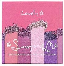 Парфюмерия и Козметика Палитра сенки за очи - Lovely Surprise Me Eyeshadow Palette Violet Field Edition