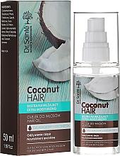 """Парфюмерия и Козметика Масло за коса """"Подхранване и блясък"""" - Dr. Sante Coconut Hair"""