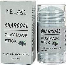 Парфюмерия и Козметика Стик глинена маска за лице с въглен - Melao Charcoal Clay Mask Stick