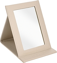 Парфюмерия и Козметика Компактно козметично огледало, бежово - MakeUp Tabletop Cosmetic Mirror Beige