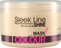 Парфюми, Парфюмерия, козметика Маска за коса - Stapiz Sleek Line Colour Hair Mask