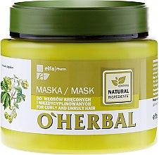 Парфюми, Парфюмерия, козметика Маска за къдрава и непокорна коса - O'Herbal