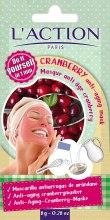 Парфюми, Парфюмерия, козметика Маска за лице против стареене на основата на червена боровинка - L`Action Paris Do It Yourself Cranberry Anti-Aging Mask