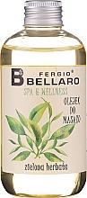 "Парфюмерия и Козметика Масажно масло ""Зелен чай"" - Fergio Bellaro Massage Oil Green Tea"