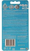 Самобръсначки за еднократна употреба - Gillette Blue 3 Cool 6+2бр — снимка N3