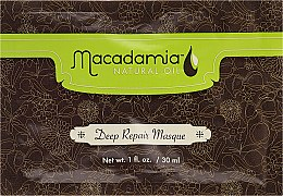 """Парфюмерия и Козметика Възстановяваща маска за коса """"Арган и Макадамия"""" - Macadamia Natural Oil Deep Repair Masque (мостра)"""