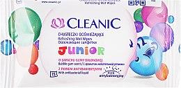Парфюмерия и Козметика Детски мокри кърпи, 15 бр. - Cleanic Junior Wipes
