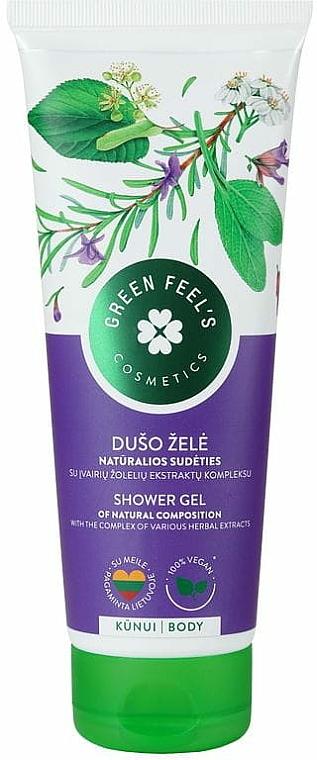 Душ гел с билков екстракт - Green Feel's Shower Gel With Herbal Extracts — снимка N1