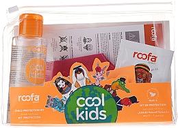 Парфюмерия и Козметика Комплект за деца - Roofa Cool Kids (шамп.-гел/3g + санит. маска + антиб. гел/100ml)
