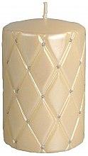 Парфюмерия и Козметика Декоративна свещ, 10 см, кремава - Artman Florence Candle