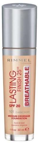 Фон дьо тен - Rimmel Lasting Finish 25HR Breathable Foundation SPF 20