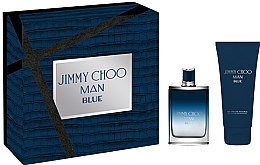 Парфюми, Парфюмерия, козметика Jimmy Choo Man Blue - Комплект (тоал. вода/50ml + душ гел/100ml)