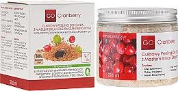 Парфюмерия и Козметика Захарен скраб за тяло с масло от шеа и масло от червена боровинка - GoCranberry