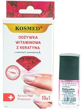 Витаминен лак за нокти с кератин - Kosmed Colagen Nail Protection 10in1
