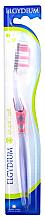 Парфюмерия и Козметика Четка за зъби, мека, розова - Elgydium Inter-Active Soft Toothbrush