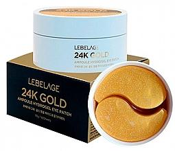 Парфюмерия и Козметика Хидрогелни пачове за очи - Lebelage 24K Gold Ampoule Hydrogel Eye Patch