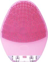 Парфюмерия и Козметика Почистваща четка за лице, BR-040, розова - Lewer Silicone Facial Cleansing Brush