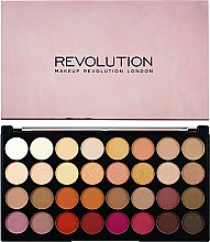 Парфюми, Парфюмерия, козметика Палитра сенки за очи, 32 цвята - Makeup Revolution Ultra 32 Shade Palette Flawless 3 Resurrection