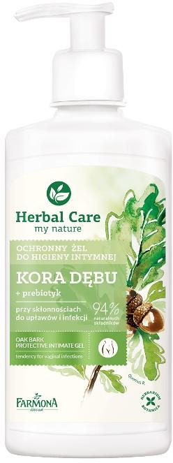 "Гел за интимна хигиена с пробиотик ""Дъбова кора"" - Farmona Herbal Care — снимка N1"