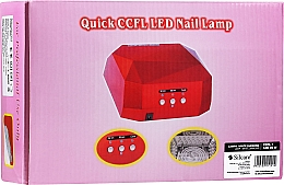 Парфюмерия и Козметика UV/LED лампа - Silcare Diamond LED CCFL UV 36W Lamp White