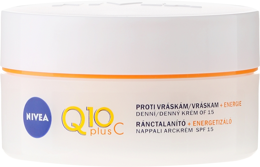 Крем против бръчки - Nivea Q10 Plus Energizing Anti-Wrinkle Day Cream SPF15 — снимка N2