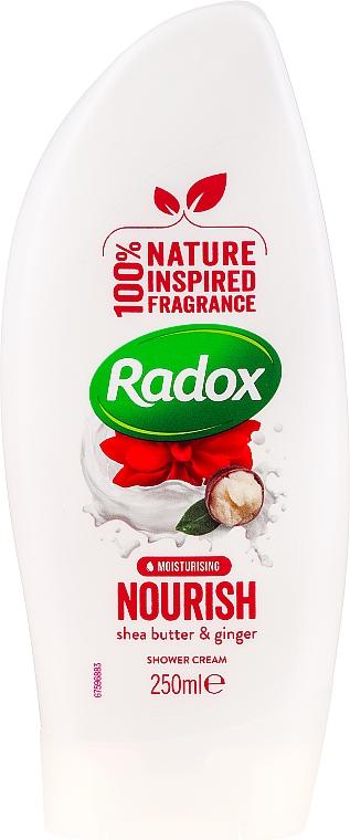Крем душ гел - Radox Moisturising Nourish Shea Butter & Ginger Shower Cream — снимка N1