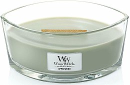 Парфюми, Парфюмерия, козметика Ароматна свещ в чаша - WoodWick Hearthwick Flame Ellipse Candle Applewood