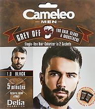 Парфюмерия и Козметика Боя за еднократна употреба за моментално боядисване на сива коса - Delia Cameleo Men