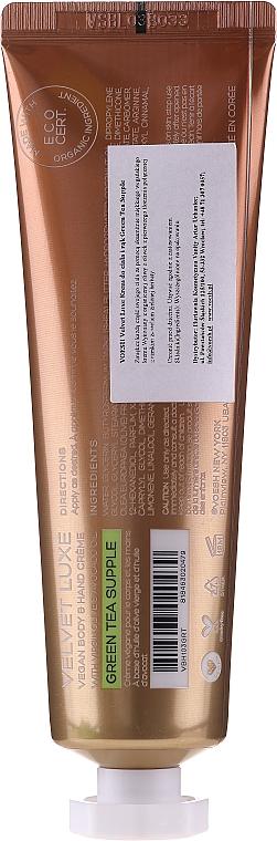 Крем за ръце и тяло със зелен чай - Voesh Velvet Luxe Vegan Body & Hand Cream Green Tea Supple — снимка N2