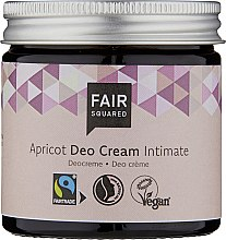 Парфюмерия и Козметика Дезодориращ интимен крем - Fair Squared Apricot Deo Cream Intimate