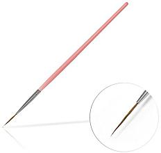 Парфюмерия и Козметика Четка за декорация на маникюр, 15 мм Pink - Silcare Brush 03