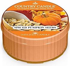 Парфюмерия и Козметика Чаена свещ - Country Candle Spiced Pumpkin Seeds Daylight
