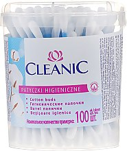 Парфюми, Парфюмерия, козметика Клечки за уши, 100 бр. - Cleanic Face Care Cotton Buds