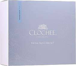 Парфюмерия и Козметика Комплект - Clochee Facial Skin Care Moisturising Set (серум/30ml + околооч. крем/15ml + свещ)