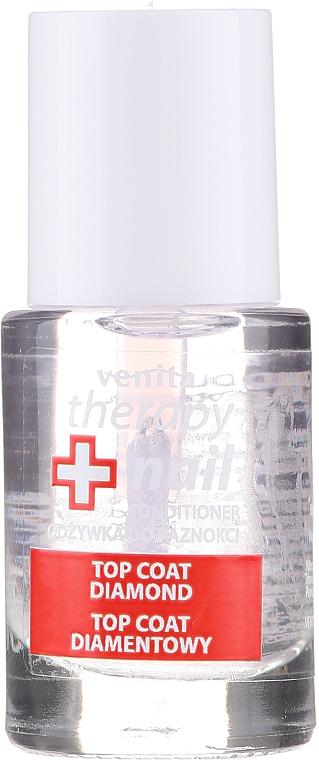 Топ лак - Venita Therapy Nail Top Coat Diamond