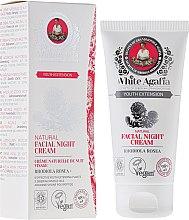 """Нощен крем за лице """"Дълга младост"""" 35-50 години - Рецептите на баба Агафия White Agafia Natural Facial Night Cream — снимка N1"""