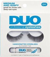 Парфюми, Парфюмерия, козметика Изкуствени мигли с лепило - Duo Lash Kit Professional Eyelashes Style D11