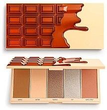 Парфюмерия и Козметика Палитра за грим - I Heart Revolution Chocolate Face Palette Waffle