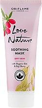 Парфюмерия и Козметика Успокояваща маска за лице с натурален овес и годжи бери - Oriflame Love Nature Soothing Mask
